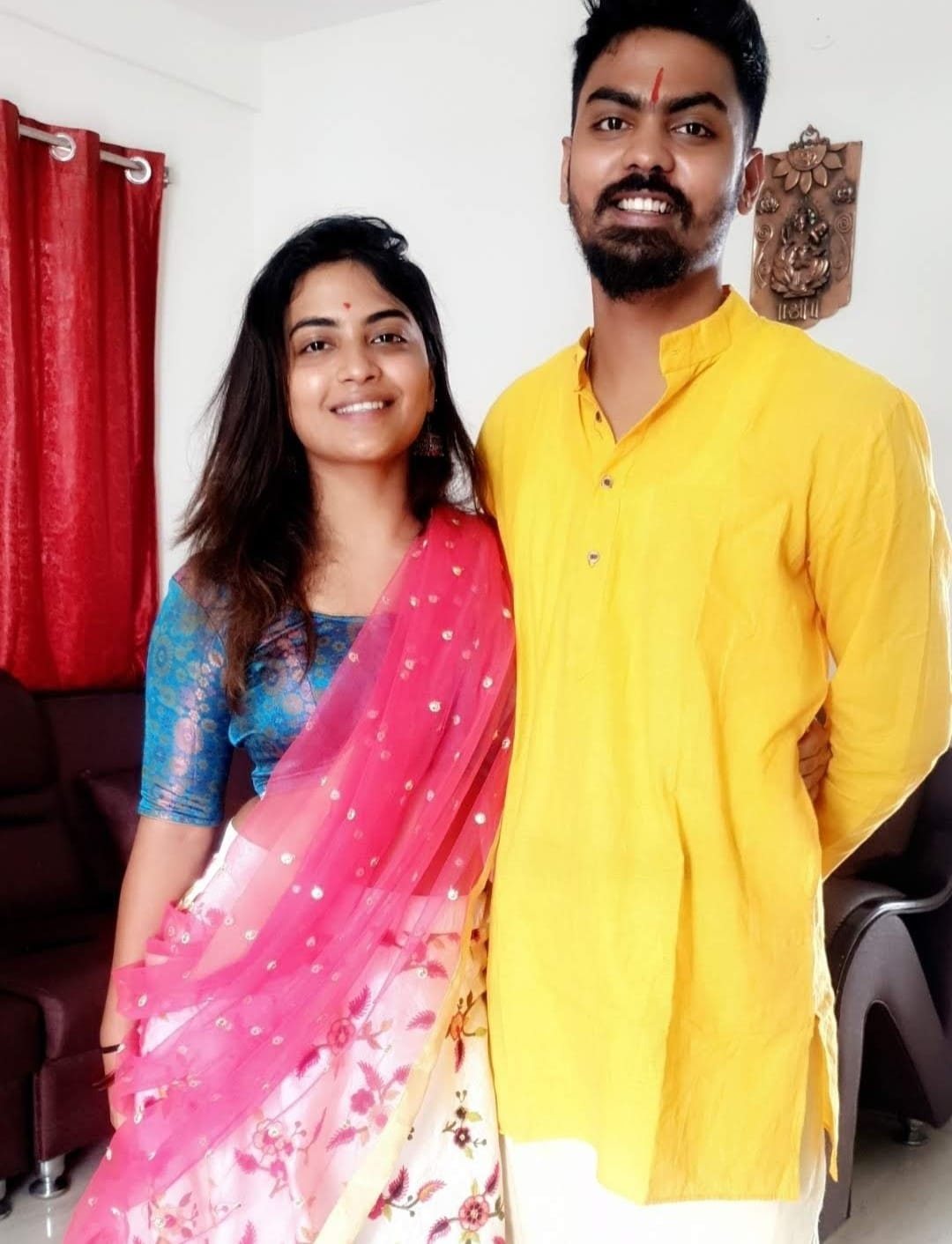 alekhya harika and her brother