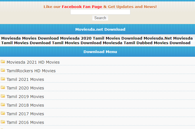 Moviesda 2021 Collection: Tamil Movies Download in HD Quality